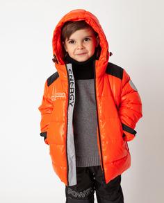 Оранжевая куртка зимняя Gulliver