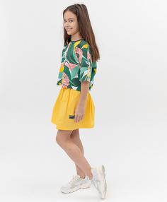 Желтая юбка Button Blue