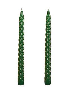 Свечи витые Омский свечной 2.3x24.5cm 2шт Dark Green 008105