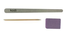 Одноразовый набор для маникюра №1: пилка 100/180 грит, баф, апельсиновая палочка (10 шт.) No Brand