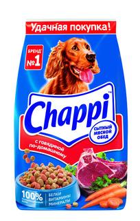 Сухой корм для собак Chappi Сытный мясной обед, Говядина с овощами и травами2.5кг