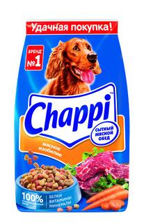Сухой корм для собак Chappi Сытный мясной обед, Мясное изобилие с овощами и травами, 2.5кг