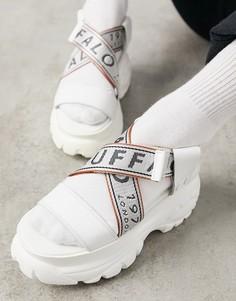 Белые кожаные сандалии на толстой подошве Buffalo-Белый