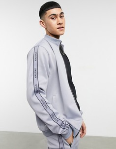 Серая спортивная куртка с отделкой лентой от комплекта Mauvais-Серый