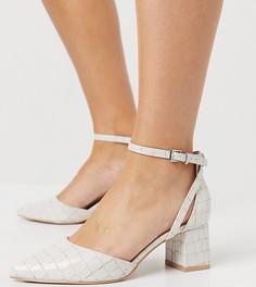Туфли цвета слоновой кости на среднем каблуке для широкой стопы RAID Wide Fit Hazy-Кремовый