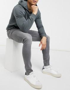 Серые зауженные джинсы Brave Soul-Серый