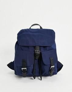 Темно-синий рюкзак с черными ремешками French Connection Missy