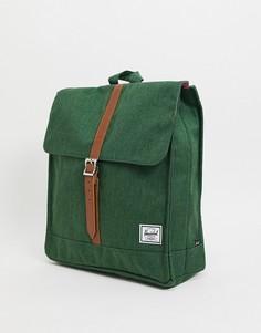 Зеленый портфель-рюкзак Herschel Supply Co-Зеленый цвет
