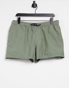 Короткие шорты для плавания цвета хаки ASOS DESIGN-Зеленый цвет