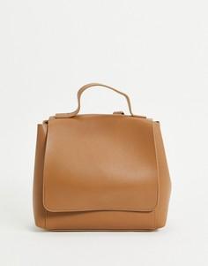 Светло-коричневый минималистский рюкзак ASOS DESIGN