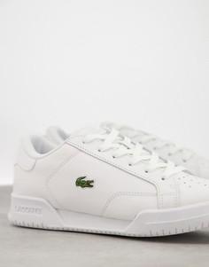Белые кеды-кроссовки счашеобразной подошвой Lacoste Twin Serve-Белый