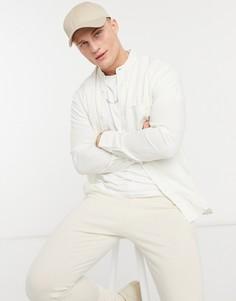 Приталенная рубашка пастельного оттенка с длинными рукавами Selected Homme-Бежевый