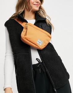 Рыже-оранжевая сумка-кошелек напояс Herschel-Оранжевый цвет