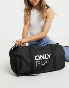 Чернаяспортивная сумка слоготипом Only Play-Черный цвет