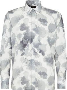 Fendi рубашка с принтом