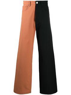 Marni двухцветные джинсы широкого кроя