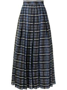 Martin Grant плиссированная юбка макси в клетку