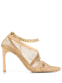 Bottega Veneta сетчатые туфли-лодочки