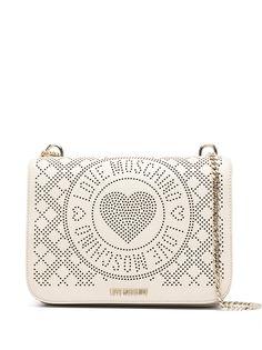 Love Moschino сумка на плечо с перфорированным логотипом