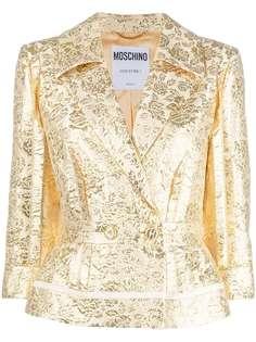 Moschino жаккардовый пиджак с цветочным узором