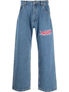 PACCBET широкие джинсы с вышивкой