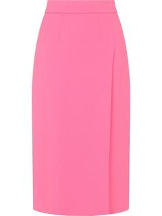 Dolce & Gabbana юбка миди с завышенной талией