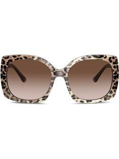 Dolce & Gabbana Eyewear солнцезащитные очки Family в квадратной оправе