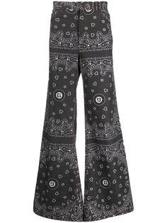 DUOltd широкие джинсы с принтом