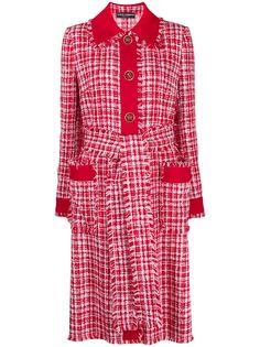 Dolce & Gabbana твидовое пальто с поясом