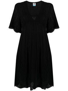 M Missoni трикотажное платье мини с V-образным вырезом