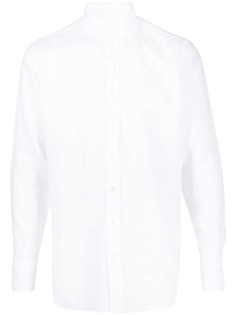 Lardini рубашка с длинными рукавами и косым воротником