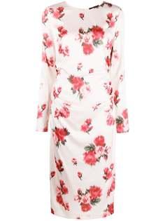 Blumarine платье миди с цветочным принтом