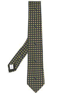 Moschino галстук с цветочной вышивкой