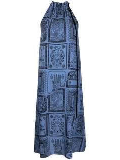 Acne Studios платье с вырезом халтер и принтом