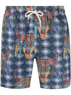 Mc2 Saint Barth плавки-шорты Aztec с графичным принтом