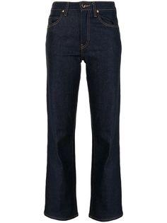 Khaite расклешенные джинсы Vivian с завышенной талией