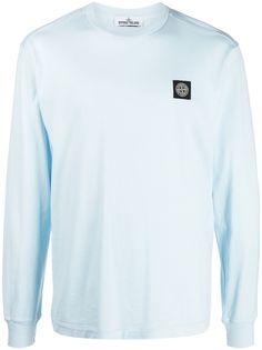 Stone Island logo-patch long-sleeved T-Shirt
