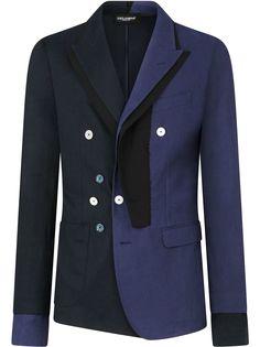 Dolce & Gabbana двухцветный пиджак на пуговицах