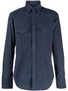 Tom Ford вельветовая рубашка с длинными рукавами