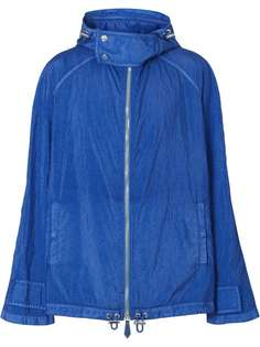 Burberry куртка с капюшоном и воротником-воронкой