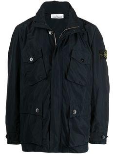 Stone Island легкая куртка с нашивкой-логотипом и карманами