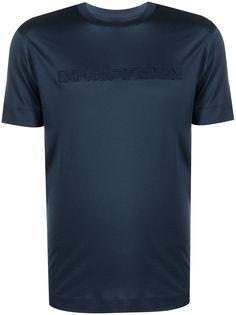 Emporio Armani футболка с короткими рукавами и вышитым логотипом