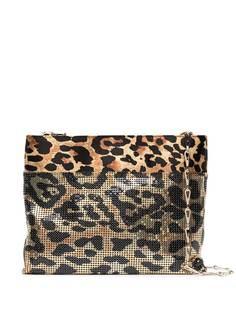 Paco Rabanne сумка на плечо с леопардовым принтом