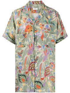 Etro рубашка с короткими рукавами и цветочным принтом