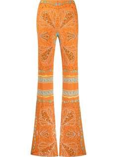 Emilio Pucci брюки прямого кроя с абстрактным принтом