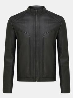 HUGO Кожаная куртка Lonos
