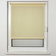 Штора рулонная Brabix 120x175 см текстура лен, защита 55-85%, 200 г/м 2 кремовый S-21 606000