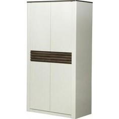 Шкаф для одежды 2-х дверный ОЛМЕКО 36.01 Амелия белый лофт/дуб стайлинг/профиль: белый/профиль: дуб стайлинг