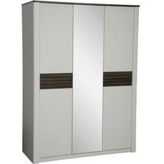 Шкаф 3-х дверный комбинированный ОЛМЕКО 36.01-01 Амелия белый лофт/дуб стайлинг/профиль: белый/профиль: дуб стайлинг/зеркало