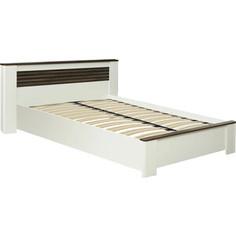 Кровать ОЛМЕКО 36.02-02 Амелия 160 белый лофт/дуб стайлинг/профиль: белый/профиль: дуб стайлинг